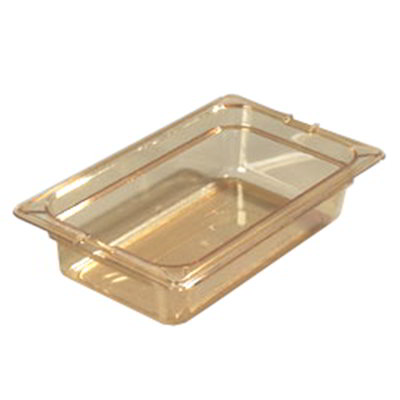 "Carlisle 1048013 High Heat 1/4 Size Food Pan - 2-1/2""D, Amber"