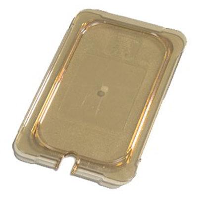 Carlisle 10497U13 Universal 1/4 Size High Heat Food Pan Lid - Flat, Notched, Amber