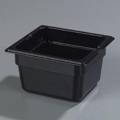 "Carlisle 1050103 High Heat 1/6 Size Food Pan - 4""D, Black"