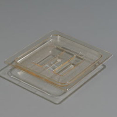 Carlisle 1051013 High Heat 1/6 Size Food Pan Lid - Amber