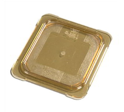 Carlisle 10516U13 Universal 1/6 Size High Heat Food Pan Lid - Flat, Amber