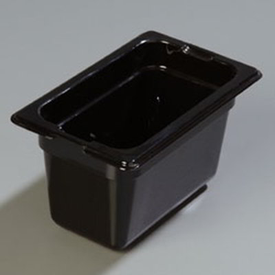 "Carlisle 1052103 High Heat 1/9 Size Food Pan - 4""D, Black"