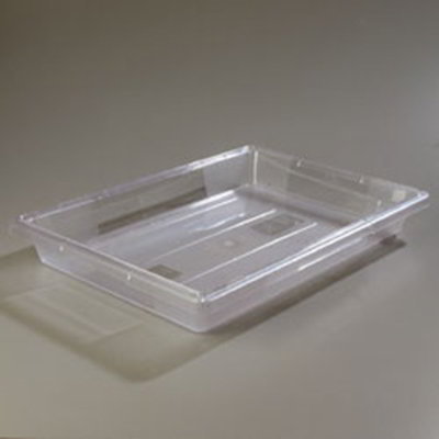 "Carlisle 1062007 5-gal Food Storage Box - 26x18x3-1/2"" Clear"