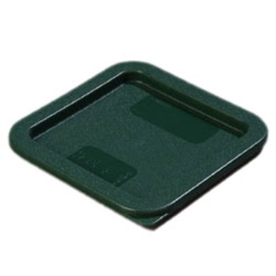 Carlisle 1074008 Food Storage Lid, for 2 & 4-qt Containers, Square, Forest Green