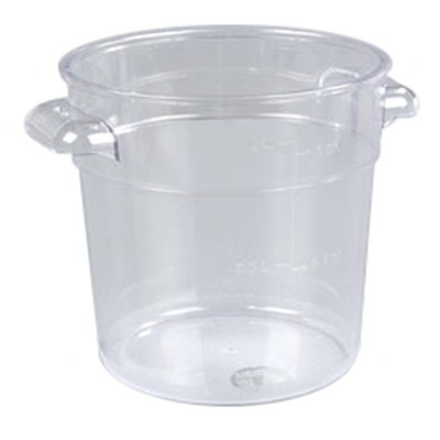 Carlisle 1076107 1-qt Round Food Storage Container - Stackable, Clear
