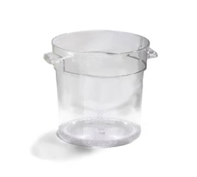 Carlisle 1076407 4-qt Round Food Storage Container - Stackable, Clear