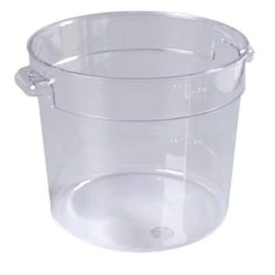 Carlisle 1076507 6-qt Round Food Storage Container - Stackable, Clear