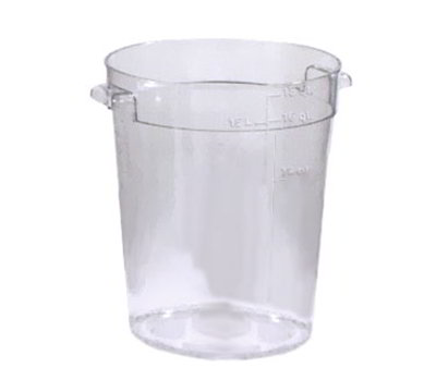 Carlisle 1076807 18-qt Round Container - Clear