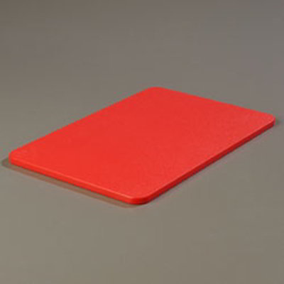 "Carlisle 1088205 Poly Cutting Board - 12x18x1/2"" Red"