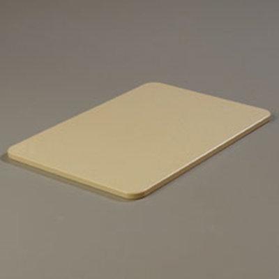 """Carlisle 1088225 Poly Cutting Board - 12x18x1/2"""" Tan"""