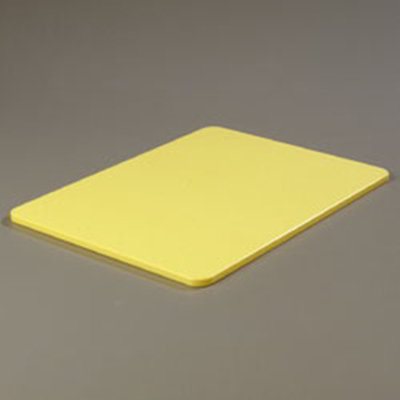 "Carlisle 1088504 Poly Cutting Board - 15x20x1/2"" Yellow"