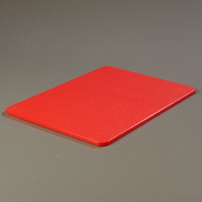 """Carlisle 1088505 Poly Cutting Board - 15x20x1/2"""" Red"""