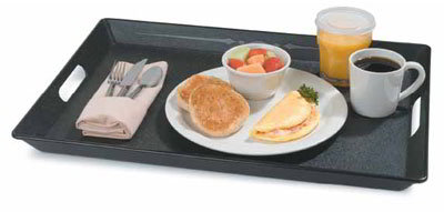 "Carlisle 1089RS152003 Rectangular Room Service Tray - 20x15-1/2"" Black"