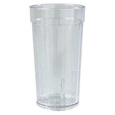 Carlisle 111207 12-oz Bistro Tumbler - Fluted, Clear