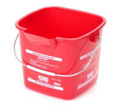 Carlisle 1182805 3-qt Square Sanitizing Pail - Red