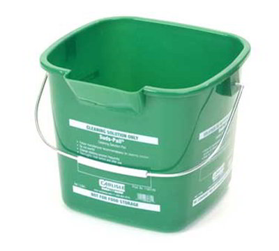 Carlisle 1183109 3-qt Square Cleaning Pail - Green
