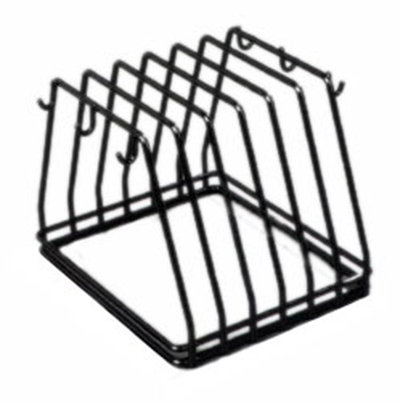 Carlisle 1187903 Board/Brush Rack - Black