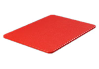 "Carlisle 1288205 Poly Cutting Board - 12x18x3/4"" Red"