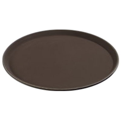 "Carlisle 1400GL076 14-5/8"" Round Serving Tray - Tan"