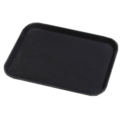 "Carlisle 1410GR004 Rectangular Serving Tray - 13-13/16x10-5/8"" Black"