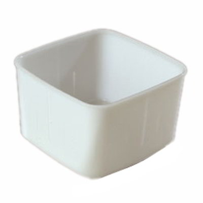 Carlisle 153202 2-qt Square Food Storage Container - White