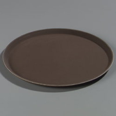 "Carlisle 1600GL076 16-7/16"" Round Serving Tray - Tan"