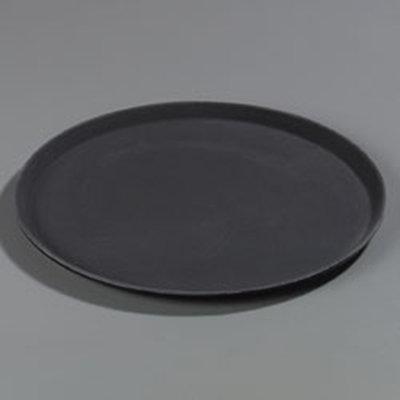 "Carlisle 1600GR004 16"" Round Serving Tray - Black"