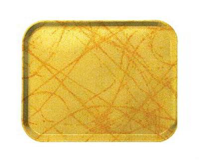 "Carlisle 1410DFG028 Rectangular Cafeteria Tray - 13-3/4x10-5/8"" Starfire Gray"