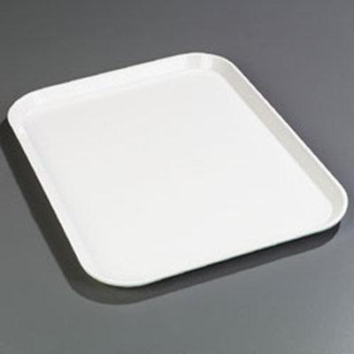"Carlisle 1814FG001 Rectangular Cafeteria Tray - 18x14"" Bone White"