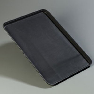 "Carlisle 1826GR004 Rectangular Serving Tray - 25-3/4x18"" Black"