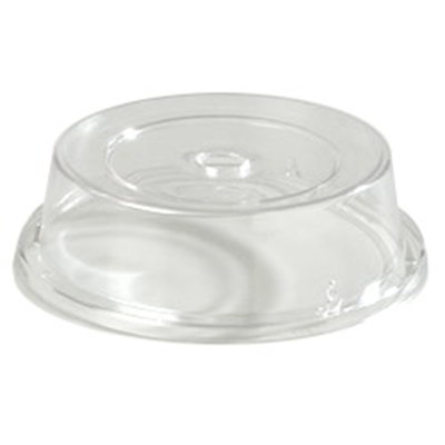 """Carlisle 190007 8-11/16"""" to 9-1/8"""" Plate Cover - Polycarbonate, Clear"""