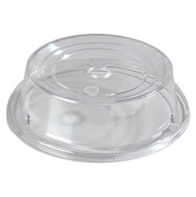 "Carlisle 196507 9-7/16"" to 9-3/4"" Plate Cover - Polycarbonate, Clear"