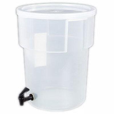 Carlisle 220930 5-gal Round Beverage Dispenser - Polypropylene, Clear