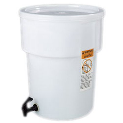 Carlisle 221002 5-gal Round Beverage Dispenser - Polypropylene, White