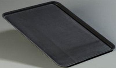 "Carlisle 2216GR004 Rectangular Serving Tray - 22x16"" Black"