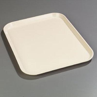 "Carlisle 2216FG022 Rectangular Cafeteria Tray - 22-1/8x16"" Ivory"