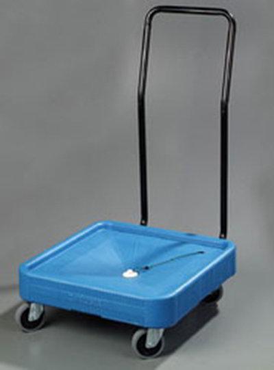 Carlisle C2236H03 Glass Rack Dolly - 350-lb Capacity, Push Handle, Polypropylene, Black