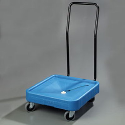 Carlisle C2236H14 Glass Rack Dolly - 350-lb Capacity, Push Handle, Polypropylene, Blue