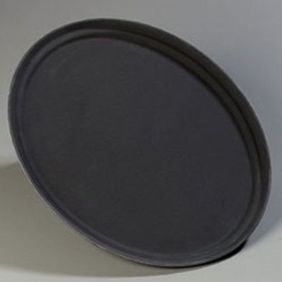 "Carlisle 2500GR004 Oval Serving Tray - 24x19-1/4"" Black"