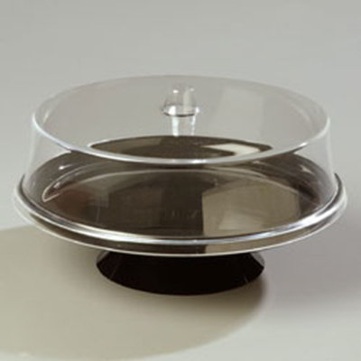 Carlisle 255803 Cake Stand w/ Dome, 2-1/4-in Black Pedestal, 2.5-in Clear Dome