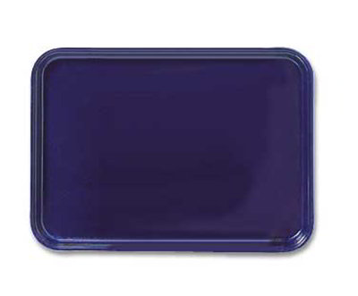 "Carlisle 2618FG014 Rectangular Display/Bakery Tray - 25-5/8x17-7/8x1-1/4"" Cobalt Blue"