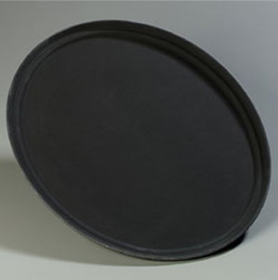 "Carlisle 2700GR004 Oval Serving Tray - 27-1/16x22-5/16"" Black"
