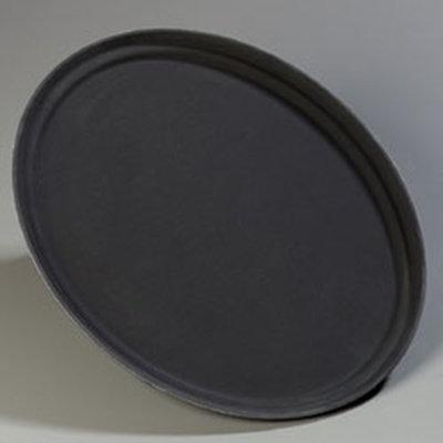 "Carlisle 3100GR004 Oval Serving Tray - 31-1/2x23-1/2"" Black"