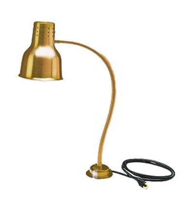 Carlisle HL8185G00 Heat Lamp - Counter-Mount, Single, Anodized Gold Finish 110-120v