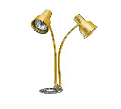 Carlisle HL8285G21 Heat Lamp - Counter-Mount, Dual Flex Arms, Anodized Gold Finish 110-120v