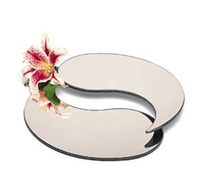"Carlisle SMTD2423 24"" Teardrop Display Tray - (2)Piece, Mirrored Acrylic"