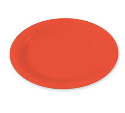 "Carlisle 3300852 6-1/2"" Sierrus Pie Plate - Melamine, Sunset Orange"