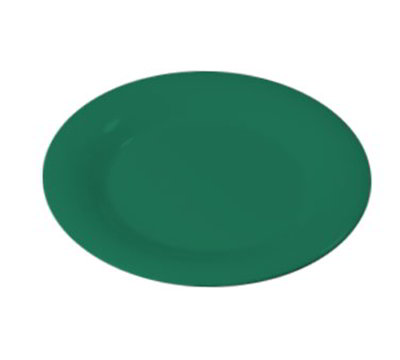 "Carlisle 3302009 5-1/2"" Sierrus Bread/Butter Plate - Wide Rime, Melamine, Meadow Green"