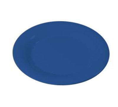 """Carlisle 3301014 10-1/2"""" Sierrus Dinner Plate - Wide Rim, Melamine, Ocean Blue"""