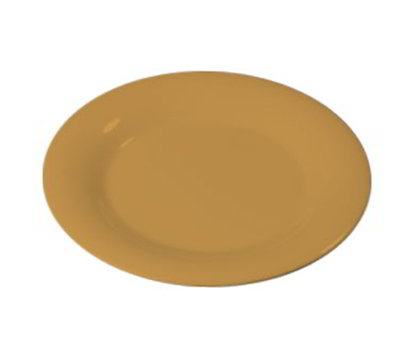 "Carlisle 3301622 7-1/4"" Sierrus Salad Plate - Wide Rim, Melamine, Honey Yellow"